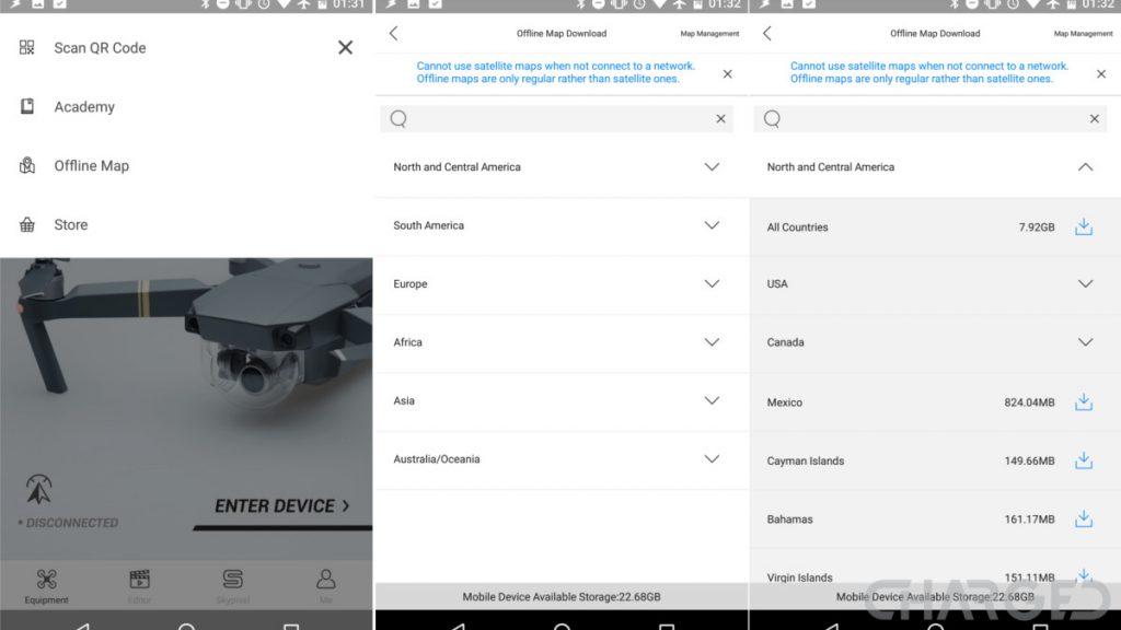 DJI updates DJI GO 4 app with offline maps and Mavic Pro auto focus on