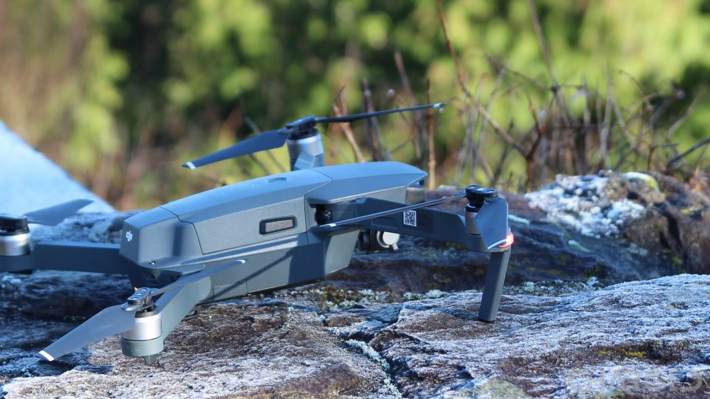 DJI Mavic Pro landed on rock featured ch