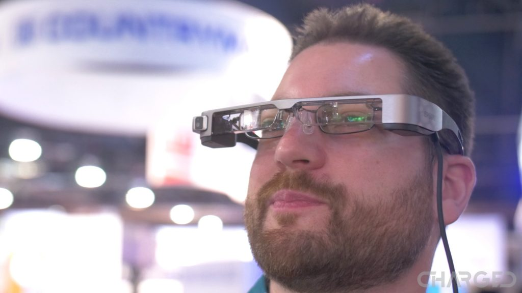 Epson Moverio glasses NAB Show 2017 ch worn