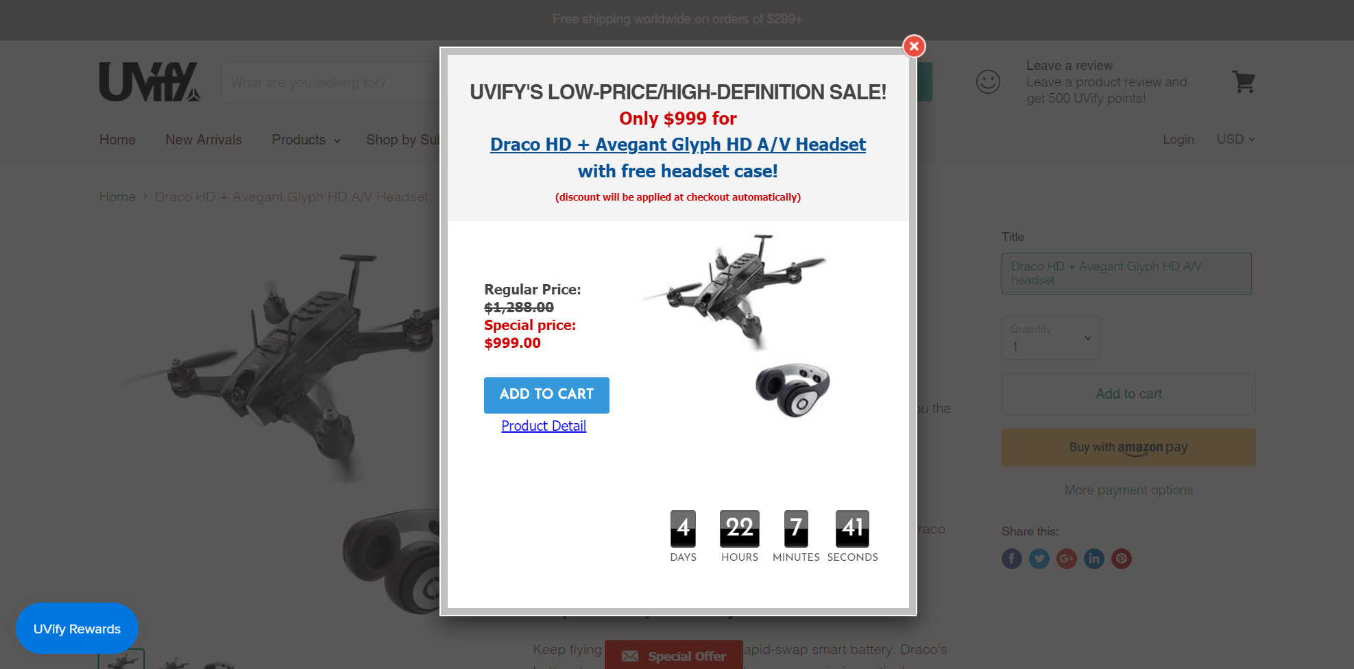 Deal: UVify racing drone sale puts HD in your face - DroneRush