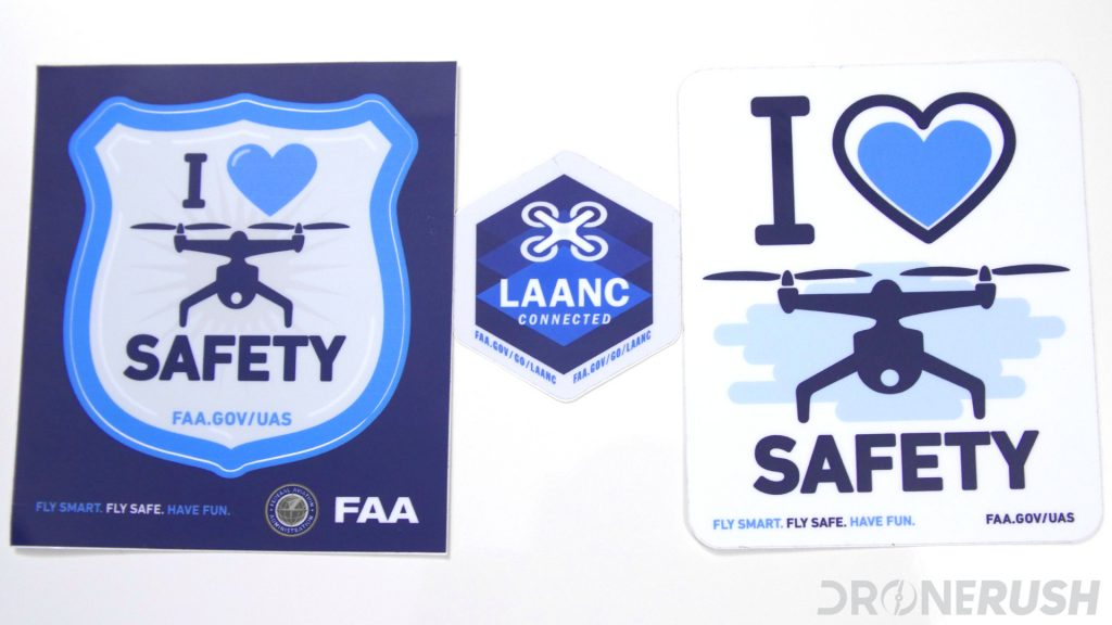 FAA LAANC love safety stickers